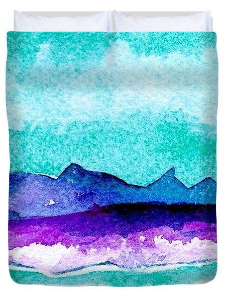 Duvet Cover featuring the painting The Colorado River by Anne Duke