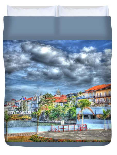 The Colors Of Casco Viejo Duvet Cover by Bob Hislop