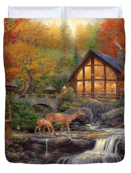 The Colors Of Life Duvet Cover by Chuck Pinson