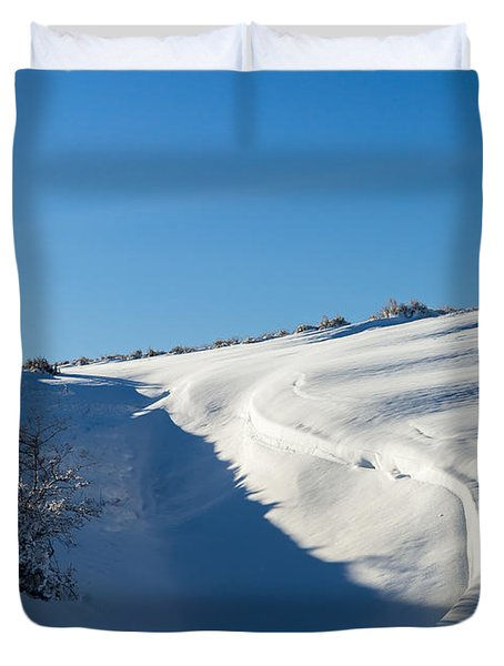 The Colors Of Snow Duvet Cover