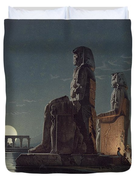 The Colossi Of Memnon, Thebes, One Duvet Cover