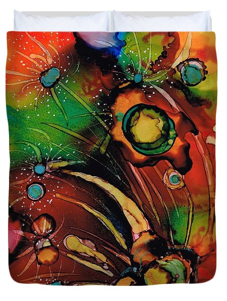 The Colours Of My Mind.. Duvet Cover by Jolanta Anna Karolska