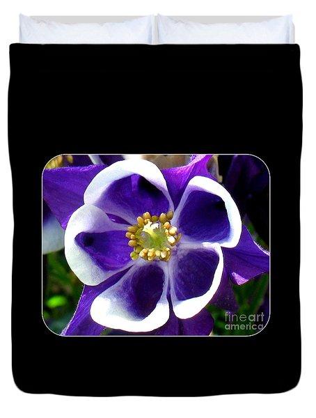 The Columbine Flower Duvet Cover by Patti Whitten