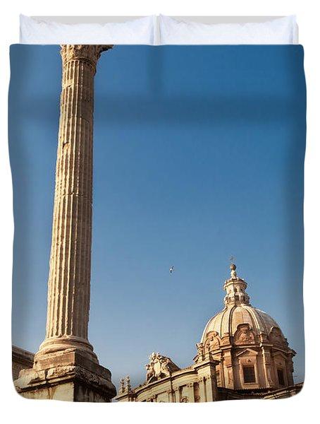 The Column Of Phocus Duvet Cover