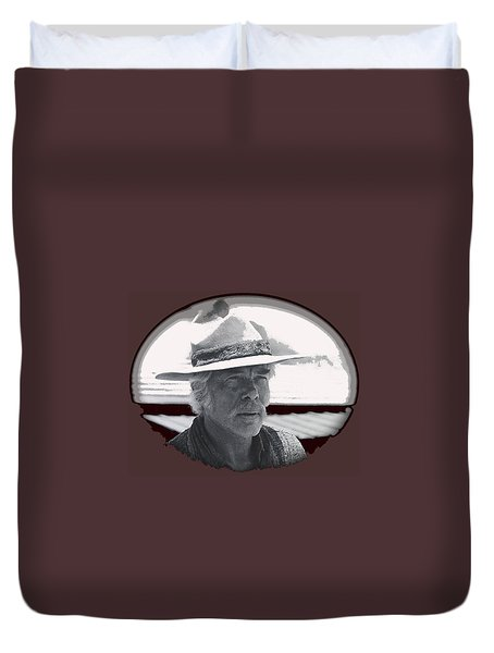 The Commancheros Homage 1961 Lee Marvin Monte Walsh Vignette Old Tucson Arizona 1969 Duvet Cover