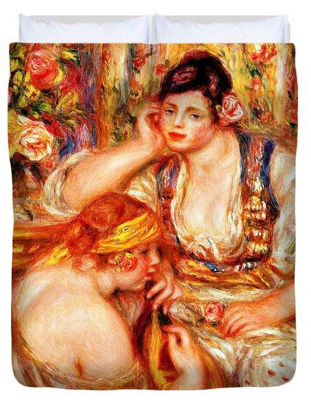 The Concert Duvet Cover by Pierre Auguste Renoir