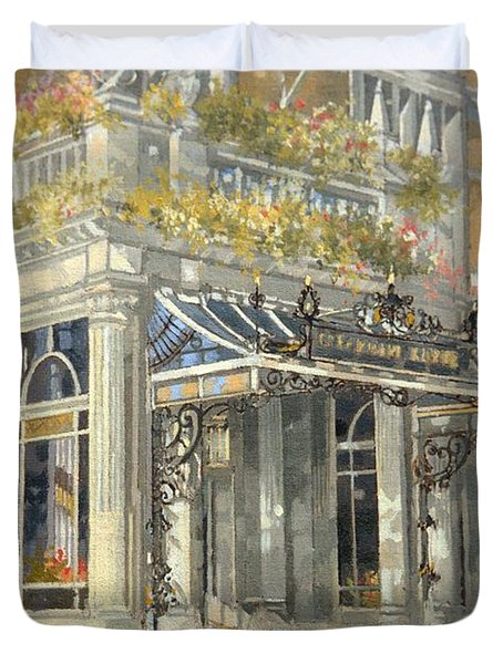 The Connaught Hotel, London Oil On Canvas Duvet Cover