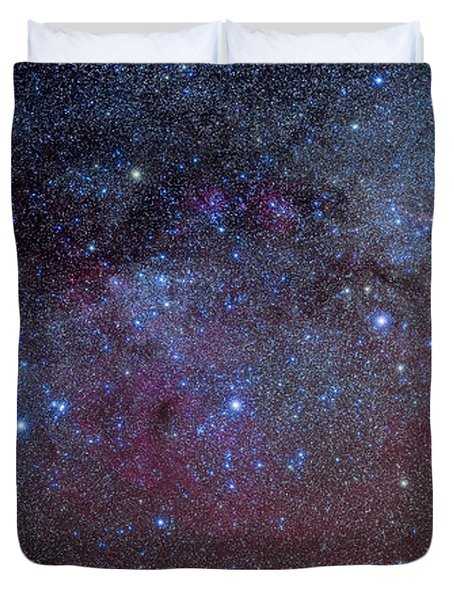 The Constellations Of Puppis And Vela Duvet Cover