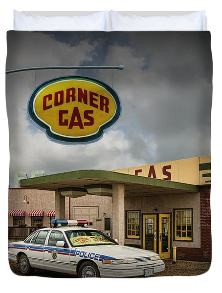 The Corner Gas Station From The Canadian Tv Sitcom Duvet Cover