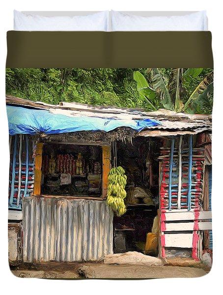 The Corner Market Duvet Cover