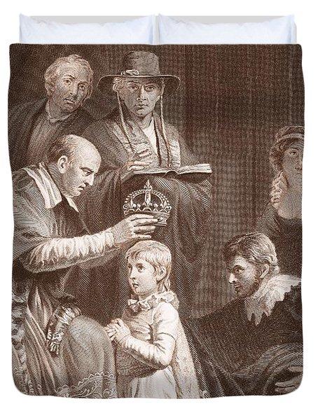 The Coronation Of Henry Vi, Engraved Duvet Cover by John Opie