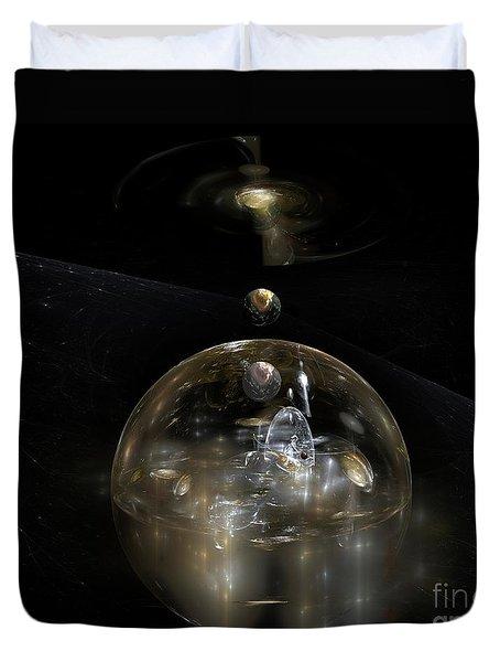 The Cosmic Builder Duvet Cover by Peter R Nicholls
