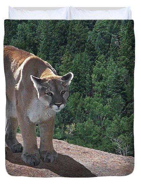 The Cougar 1 Duvet Cover by Ernie Echols