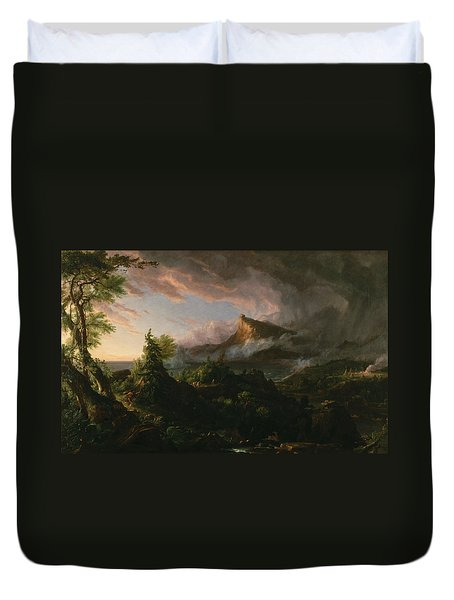 The Course Of Empire The Savage State  Duvet Cover