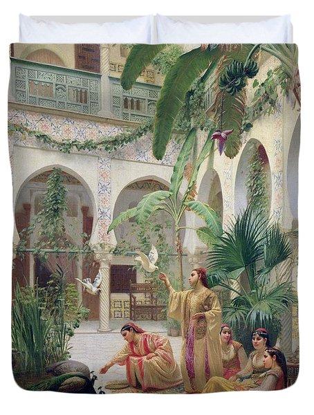 The Court Of The Harem Duvet Cover