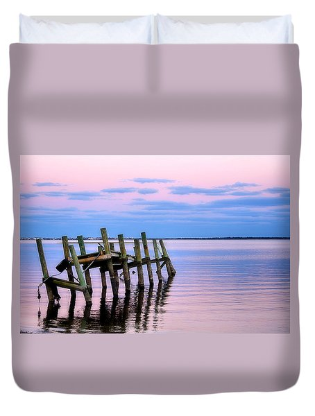 The Cove Dock Duvet Cover by Brian Hughes