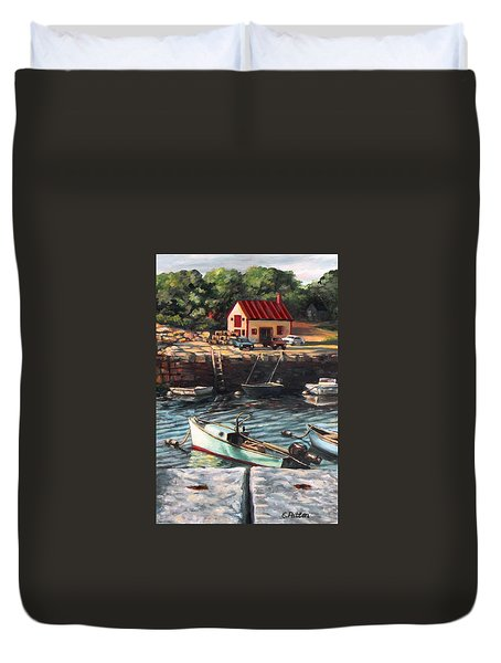 The Cove Duvet Cover by Eileen Patten Oliver