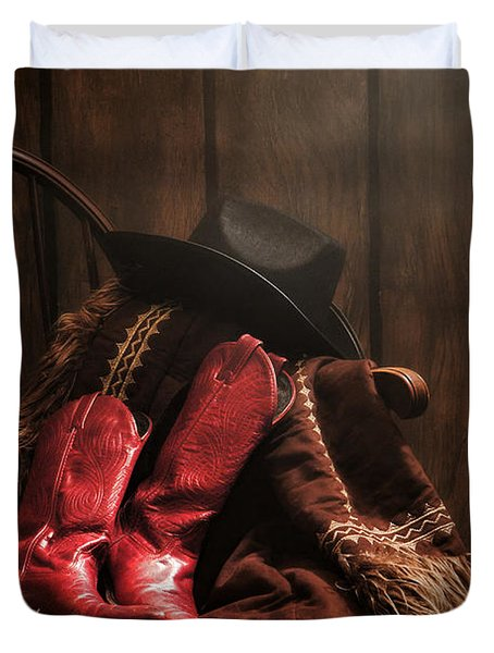 The Cowgirl Rest Duvet Cover