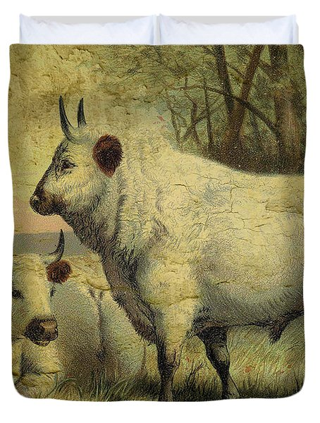 The Cows Came Home Duvet Cover by Sarah Vernon