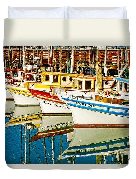 The Crab Fleet Duvet Cover