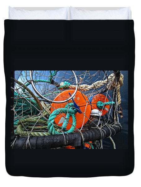 Crab Ring Duvet Cover