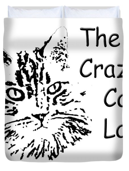 The Crazy Cat Lady Duvet Cover by Robyn Stacey