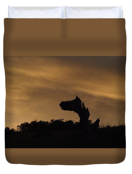 The Creature Duvet Cover by Priya Ghose