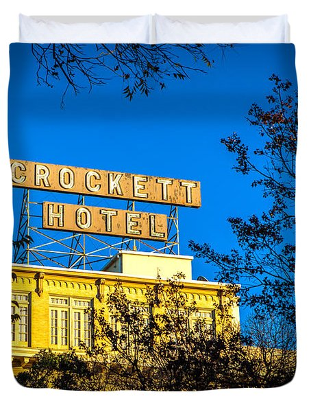 The Crockett Hotel Duvet Cover