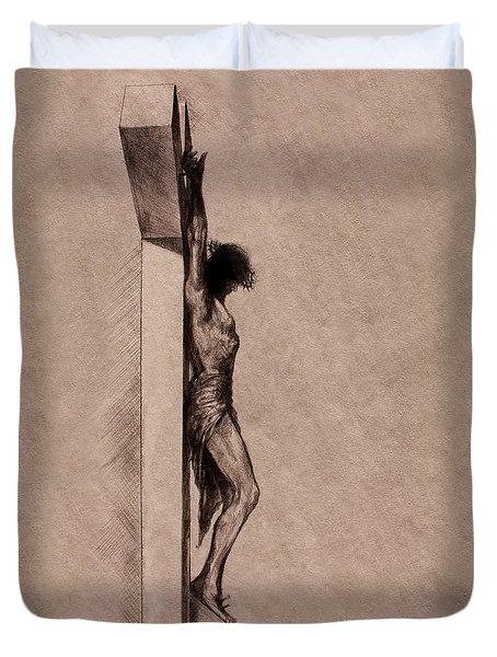 The Cross 2 Duvet Cover by Derrick Higgins
