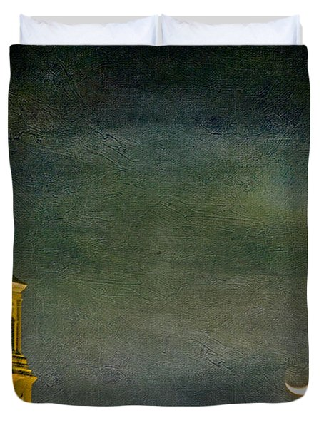 The Cross And The Crescent Duvet Cover