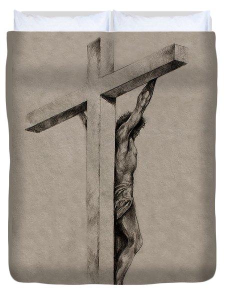 The Cross Duvet Cover by Derrick Higgins