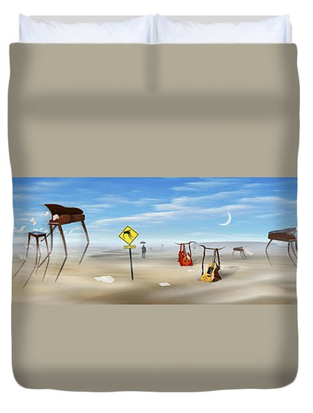 The Crossing Panorama Duvet Cover by Mike McGlothlen