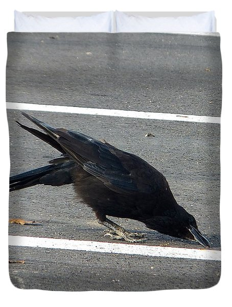 The Crow And The Seed Duvet Cover