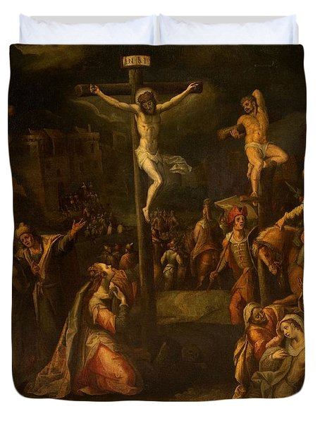 The Crucifixion, 1550?-1700 Duvet Cover