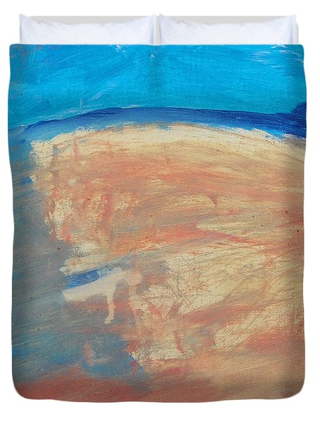 The Curve Of The Beach Duvet Cover by Lenore Senior