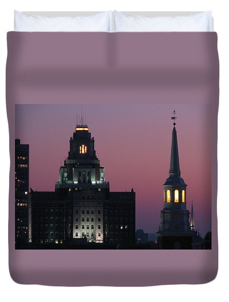 The Customs Building And Christ Church Duvet Cover