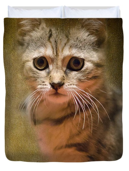 The Cutest Kitty Duvet Cover by Klara Acel