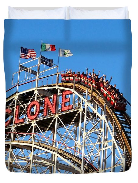 Duvet Cover featuring the photograph The Cyclone by Ed Weidman