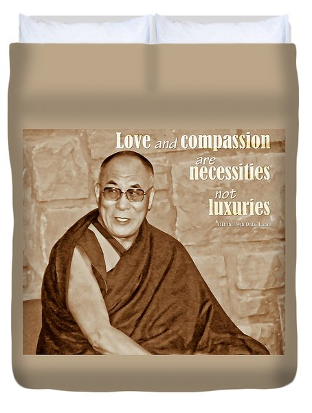 The Dalai Lama Duvet Cover
