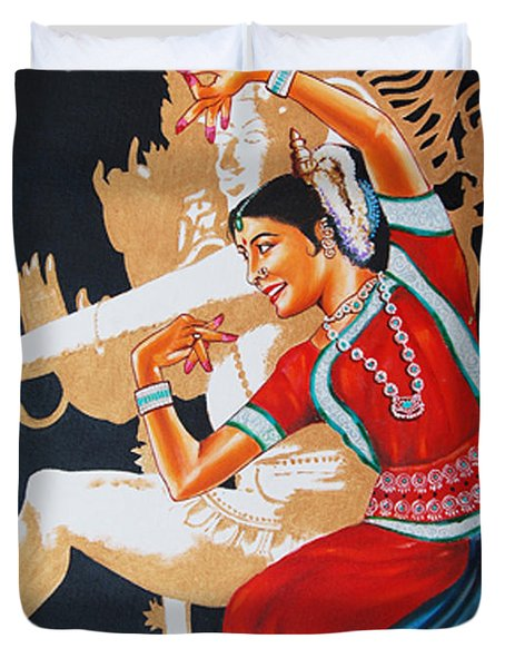 The Dance Divine Of Odissi Duvet Cover
