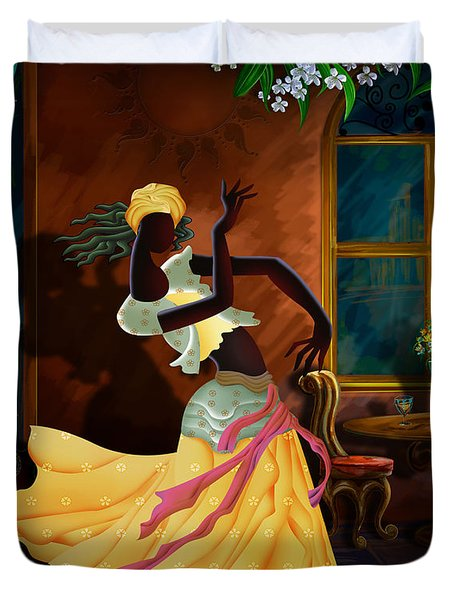 The Dancer Act 1 Duvet Cover by Bedros Awak