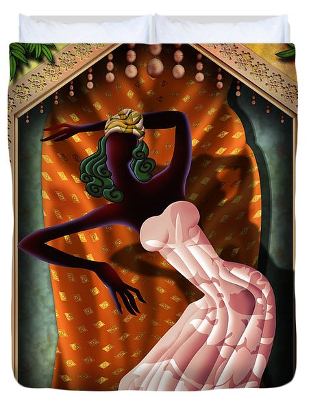 The Dancer V1 Duvet Cover