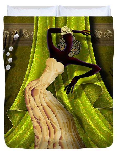 The Dancer V3 Duvet Cover by Bedros Awak