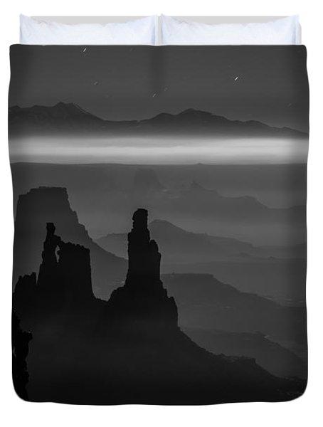 The Dark Side Of The Moon Duvet Cover by Dustin  LeFevre
