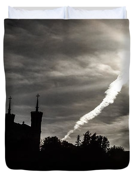 Duvet Cover featuring the photograph The Dark Towers by Stwayne Keubrick