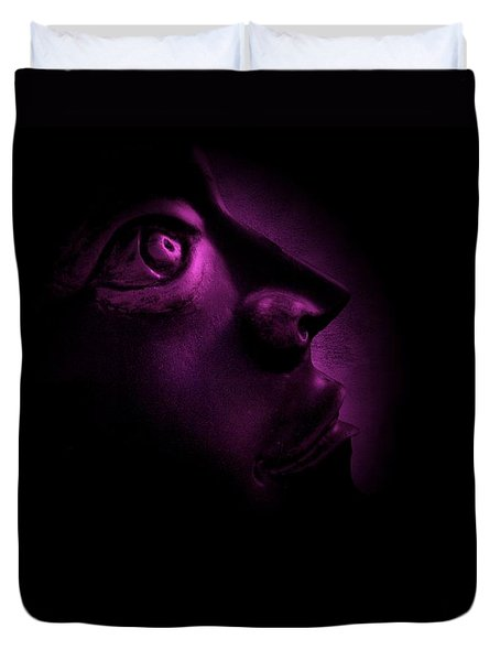 The Darkest Hour - Magenta Duvet Cover by David Dehner