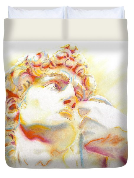 The David By Michelangelo. Tribute Duvet Cover