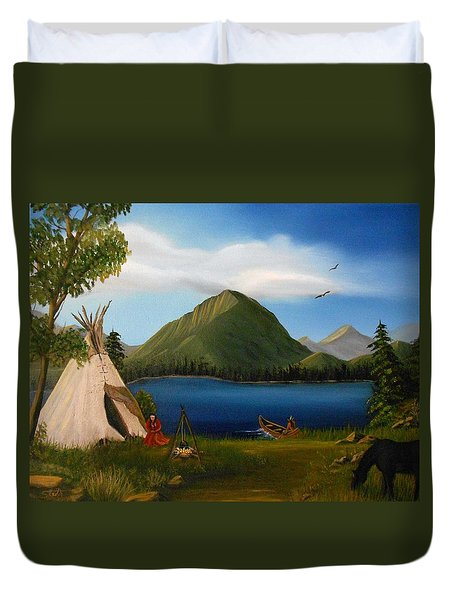 Dawn Of Tohidu Duvet Cover by Sheri Keith