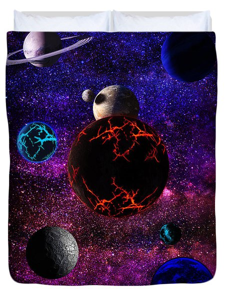 The Dead Solar System  Duvet Cover by Naomi Burgess