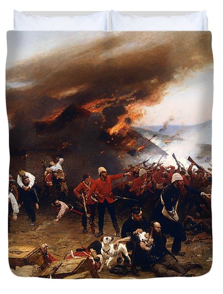 The Defence Of Rorke's Drift 1879 Duvet Cover by Mountain Dreams